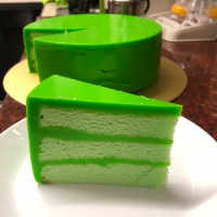 Pandan Kaya Custard Cake